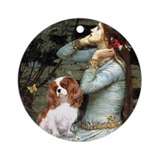 Ophelia & Cavalier Ornament (Round)
