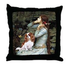 Ophelia & Cavalier Throw Pillow
