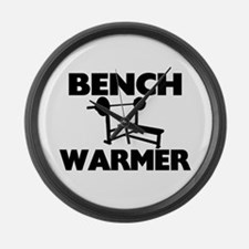 Bench Warmer Large Wall Clock