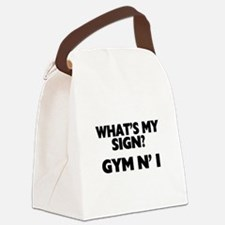 What's My Sign Gym N' I Canvas Lunch Bag