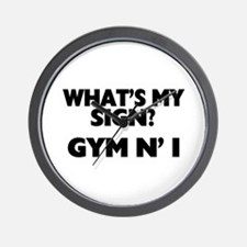 What's My Sign Gym N' I Wall Clock