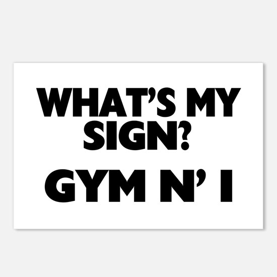What's My Sign Gym N' I Postcards (Package of 8)