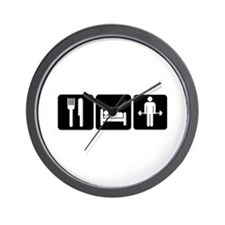 Man Eat Sleep Lift Weights Wall Clock