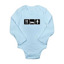 Man Eat Sleep Lift Wei Long Sleeve Infant Bodysuit