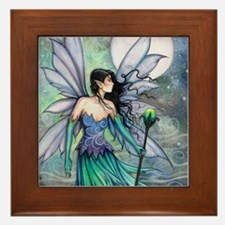 Cry of the Wind Fairy Fantasy Art Framed Tile