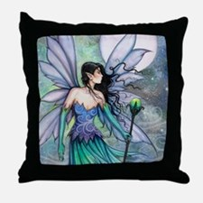Cry of the Wind Fairy Fantasy Art Throw Pillow