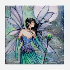 Cry of the Wind Fairy Fantasy Art Tile Coaster