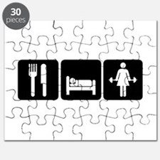 Woman Eat Sleep Lift Weights Puzzle