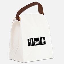Woman Eat Sleep Lift Weights Canvas Lunch Bag
