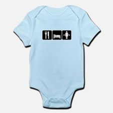 Woman Eat Sleep Lift Weights Infant Bodysuit