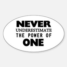 Never Underestimate The Power Of On Sticker (Oval)