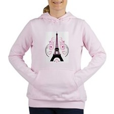 Eiffel Tower Gradient Swirl Design Women's Hooded