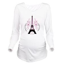 Eiffel Tower Gradient Swirl Design Long Sleeve Mat