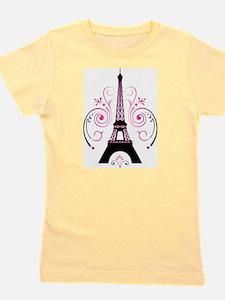 Eiffel Tower Gradient Swirl Design Girl's Tee