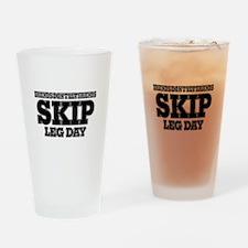 Friends Don't Let Friends Skip Leg Drinking Glass