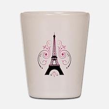 Eiffel Tower Gradient Swirl Design Shot Glass