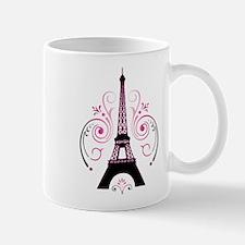 Eiffel Tower Gradient Swirl Design Mug