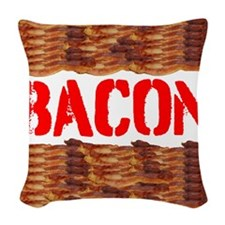 Bacon Woven Throw Pillow