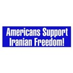 Americans Support Iranian Freedom!Bumper Sticker