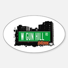 W GUN HILL RD, Bronx, NYC Oval Decal
