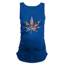 weed rose leaf Maternity Tank Top