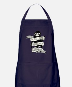 nap all day sleep all night party nev Apron (dark)