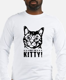3-obey_kitty_t Long Sleeve T-Shirt