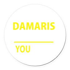 Damaris Round Car Magnet