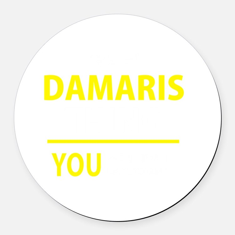 Cute Damaris Round Car Magnet