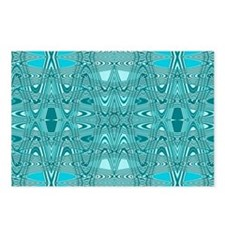 Turquoise Mod Abstract Postcards (Package of 8)