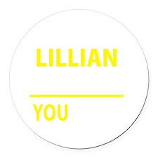 Unique Lillian Round Car Magnet
