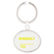 Unique Kimberly Oval Keychain