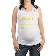 Funny Kelsie Maternity Tank Top