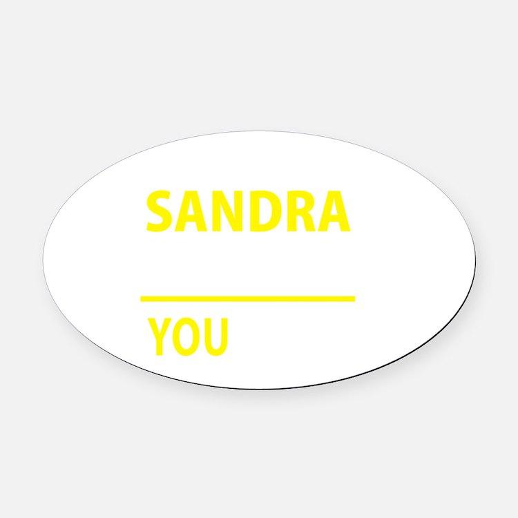 Cute Sandra Oval Car Magnet