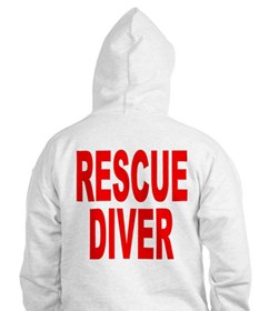 Rescue Diver Red Hoodie