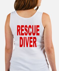 Rescue Diver Red Women's Tank Top