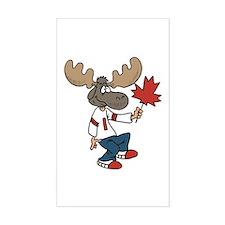 Canada Moose Rectangle Decal