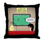US and Soccer Throw Pillow