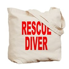 Rescue Diver Red Tote Bag