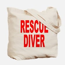 Rescue Diver Red Tote Bag