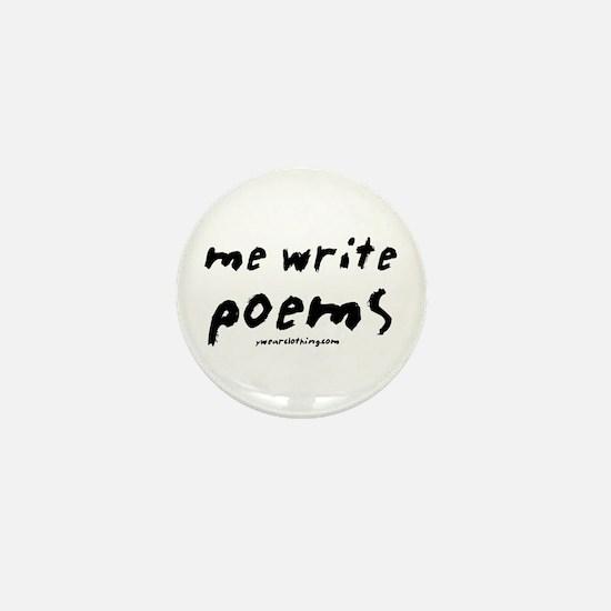 Me Write Poems Mini Button