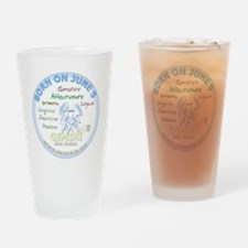 June 5th Birthday Drinking Glass