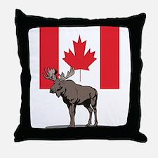 Canadian Moose Throw Pillow