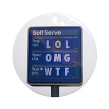 Gas Prices Ornament (Round)
