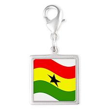 Waving Ghana Flag Charms