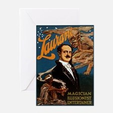Laurant The Magician 1913 Card Greeting Cards