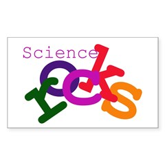 Science Rocks Rectangle Decal