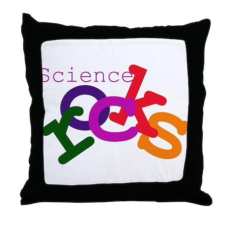 Science Rocks Throw Pillow