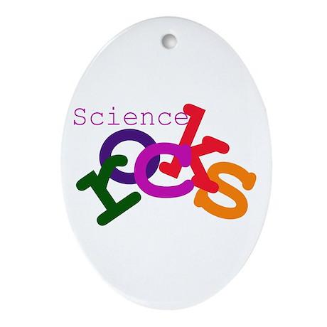 Science Rocks Oval Ornament