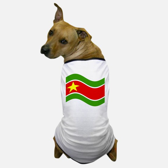 Waving Guadelupe Flag Dog T-Shirt